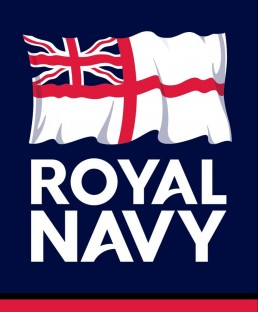Logo representing the Royal Navy; it is a St George's flag with a Union Jack in the upper left quadrant