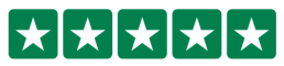 5 stars done in the Trustpilot house style of white stars on a green background for for All Write On The Night's professional speech writer, Marc Blakewill