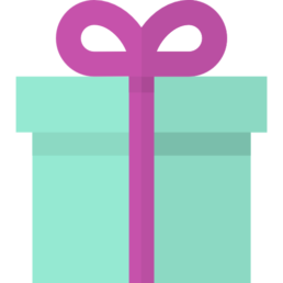 An icon of a box tied with a bow