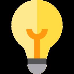 An image of a light bulb representing groom speech ideas